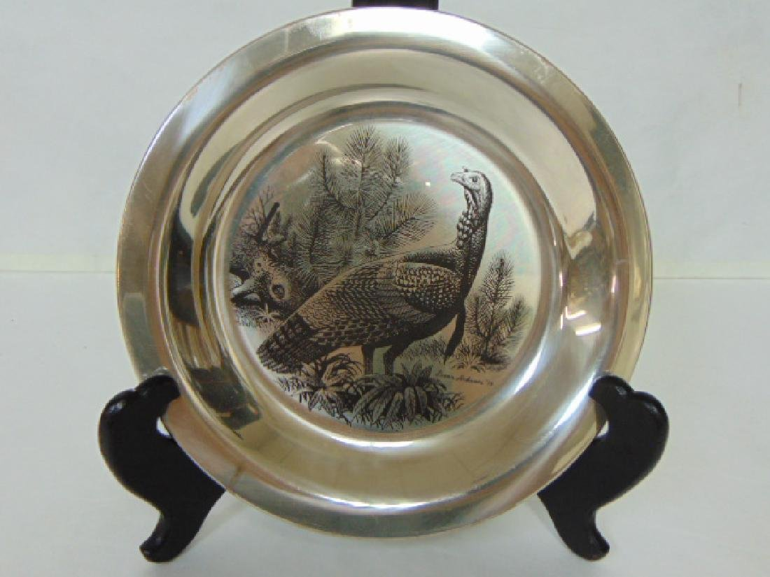 FRANKLIN MINT THANKSGIVING STERLING SILVER PLATE