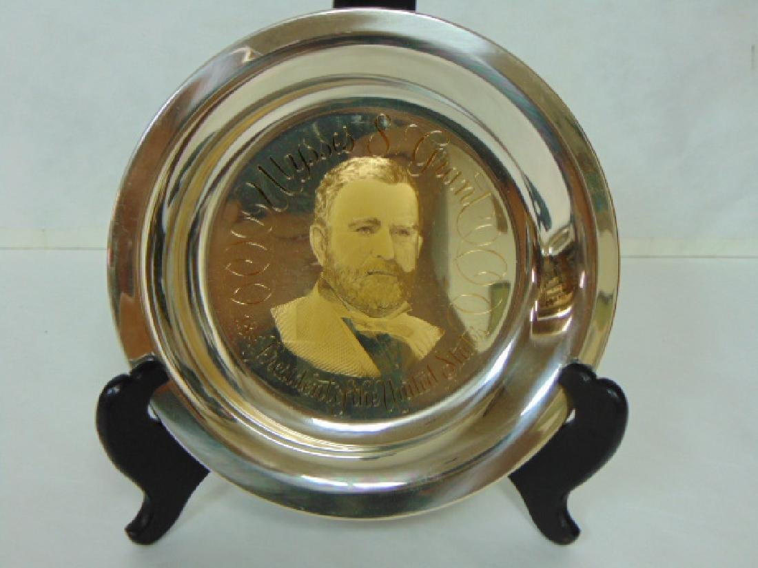 STERLING SILVER & 24KT GOLD GRANT COLLECTORS PLATE