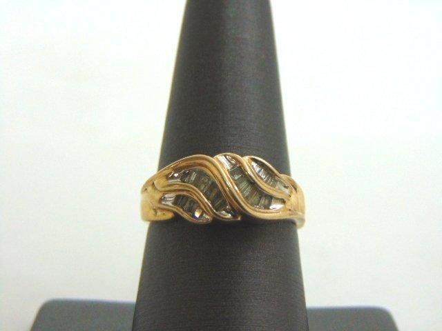 VINTAGE ESTATE WOMENS 10K GOLD DIAMOND RING 3.1g