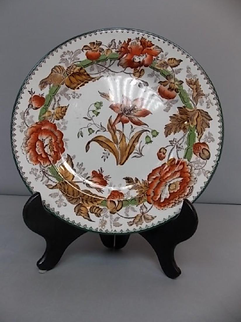 "ANTIQUE WEDGWOOD POLYCHROME PLATE ""HORTICULTURAL"""