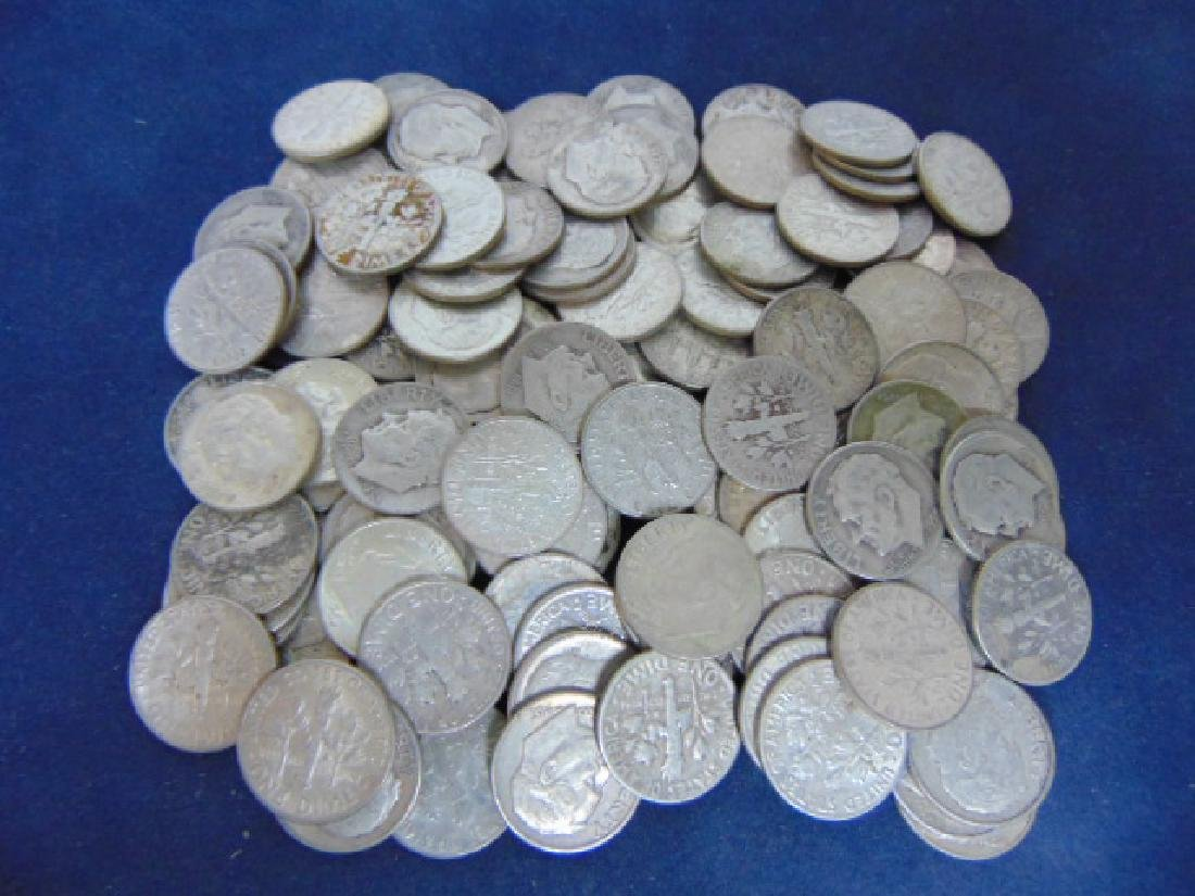 LOT OF 116 VINTAGE  SILVER ROOSEVELT DIMES COIN