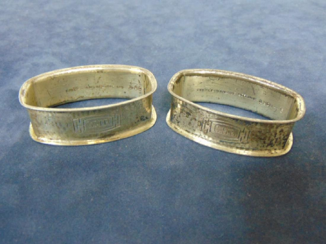 PR ANTIQUE STERLING SILVER WALLACE NAPKIN RINGS 46.4g
