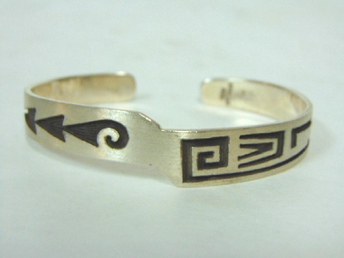 Sterling Silver Southwestern Design Cuff Bracelet