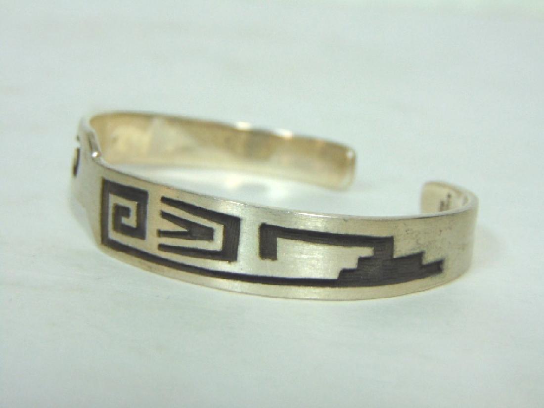 Sterling Silver Southwestern Design Cuff Bracelet - 2