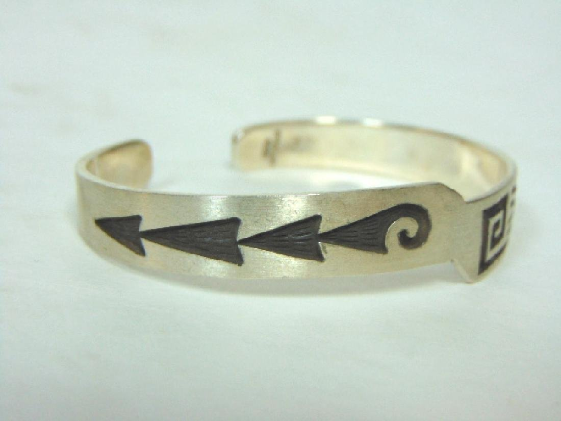 Sterling Silver Southwestern Design Cuff Bracelet - 3