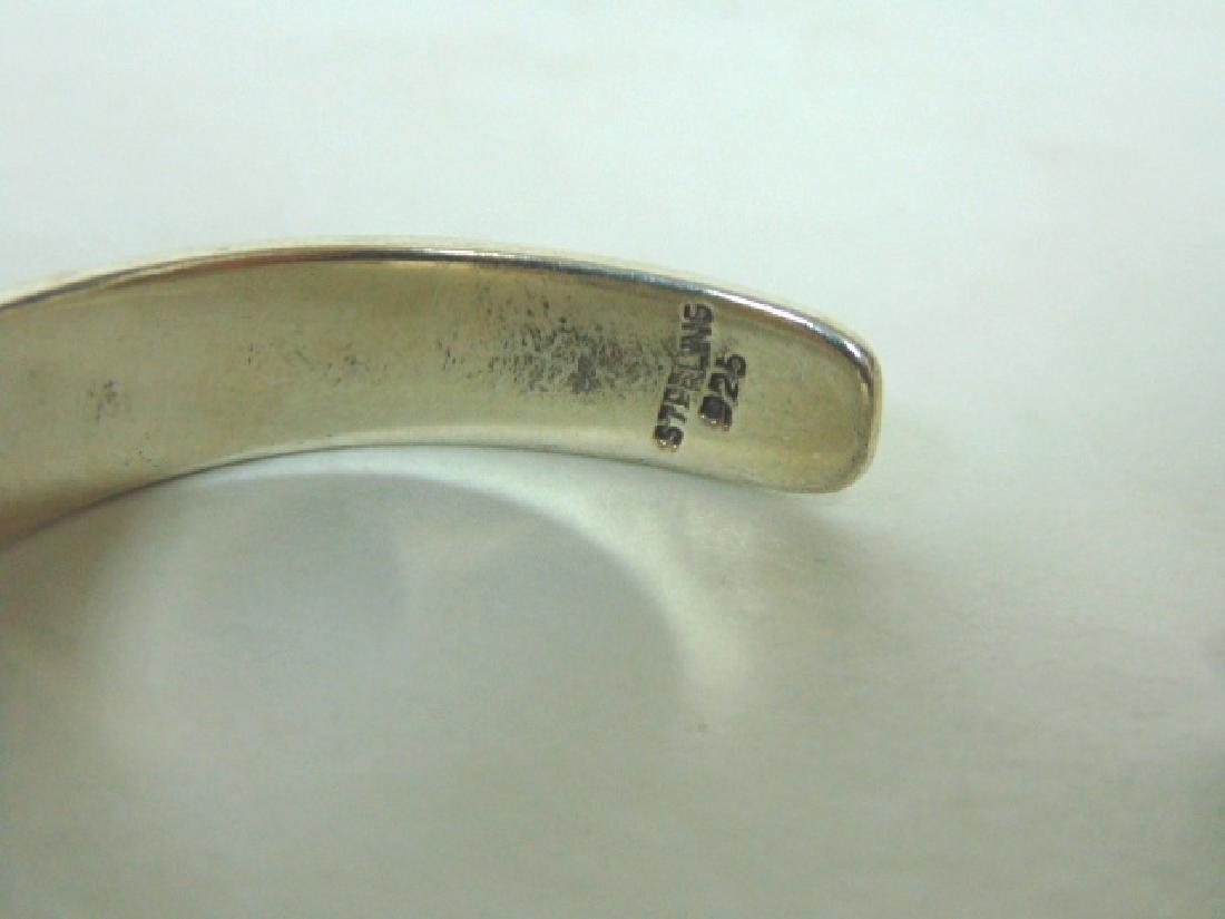 Sterling Silver Southwestern Design Cuff Bracelet - 5