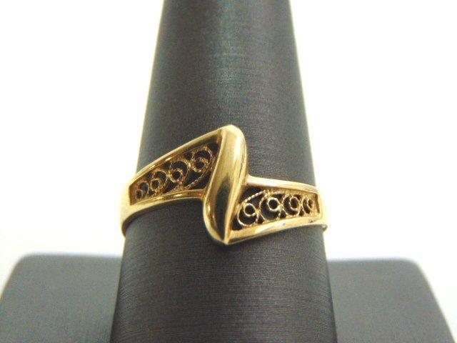 WOMENS VINTAGE ESTATE 10K GOLD FILIGREE RING 2.1g
