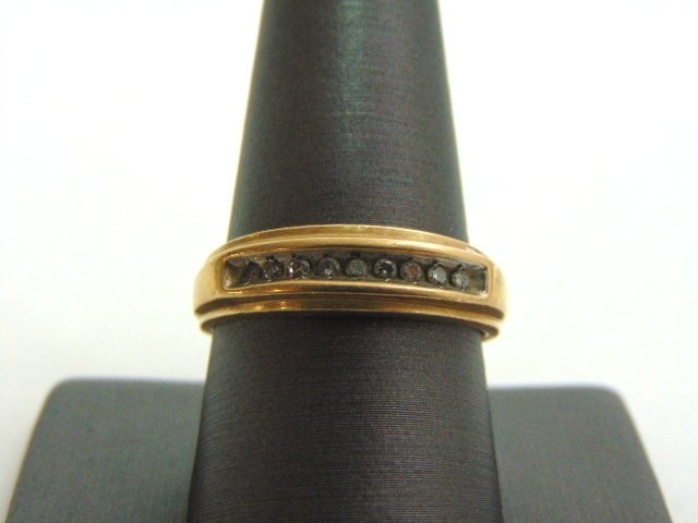 VINTAGE ESTATE MENS 10K GOLD DIAMOND RING 3.07g