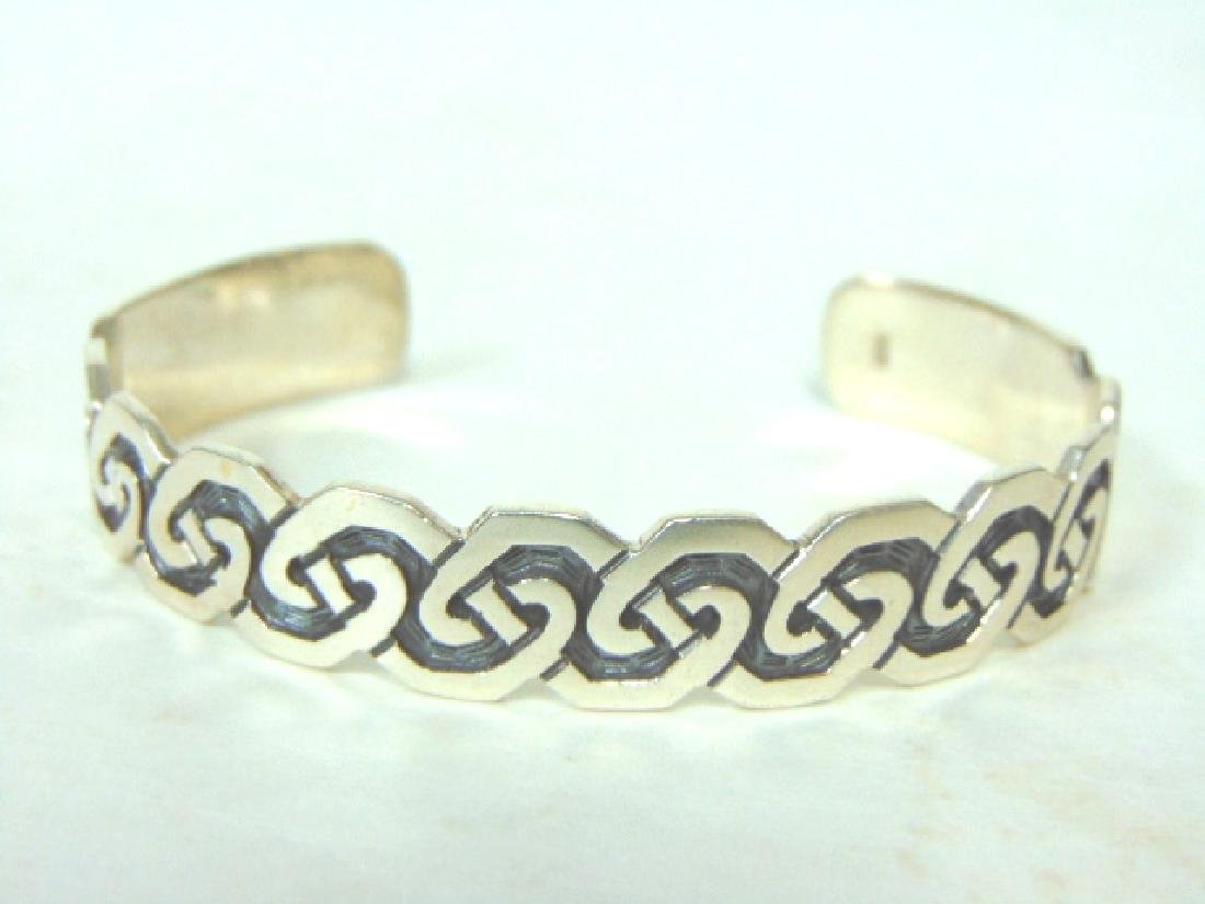 Womens Vintage Estate Sterling Silver Cuff Bracelet