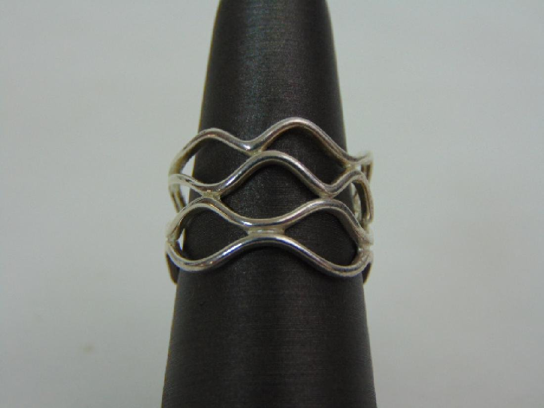 Womens Vintage Estate Sterling Silver Ring 3.5g E811