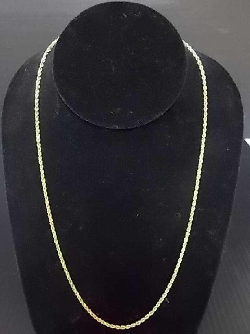 Vintage Estate14K Yellow Gold Rope Necklace 9.82g