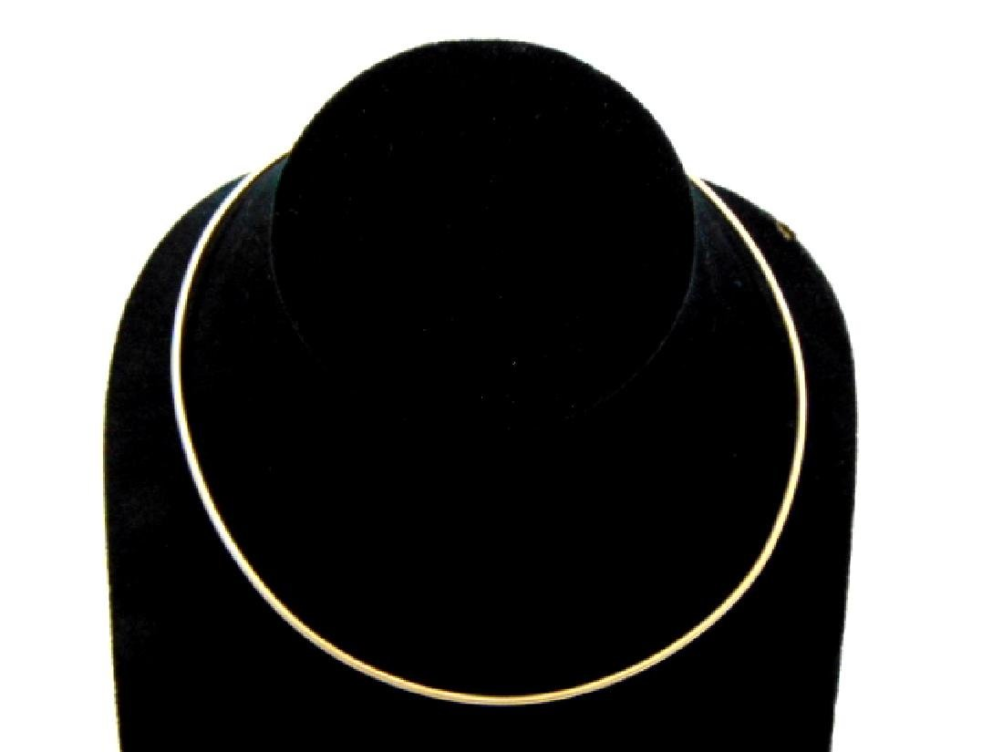 Vintage Estate 14K Yellow Gold Choker Necklace 7.8g