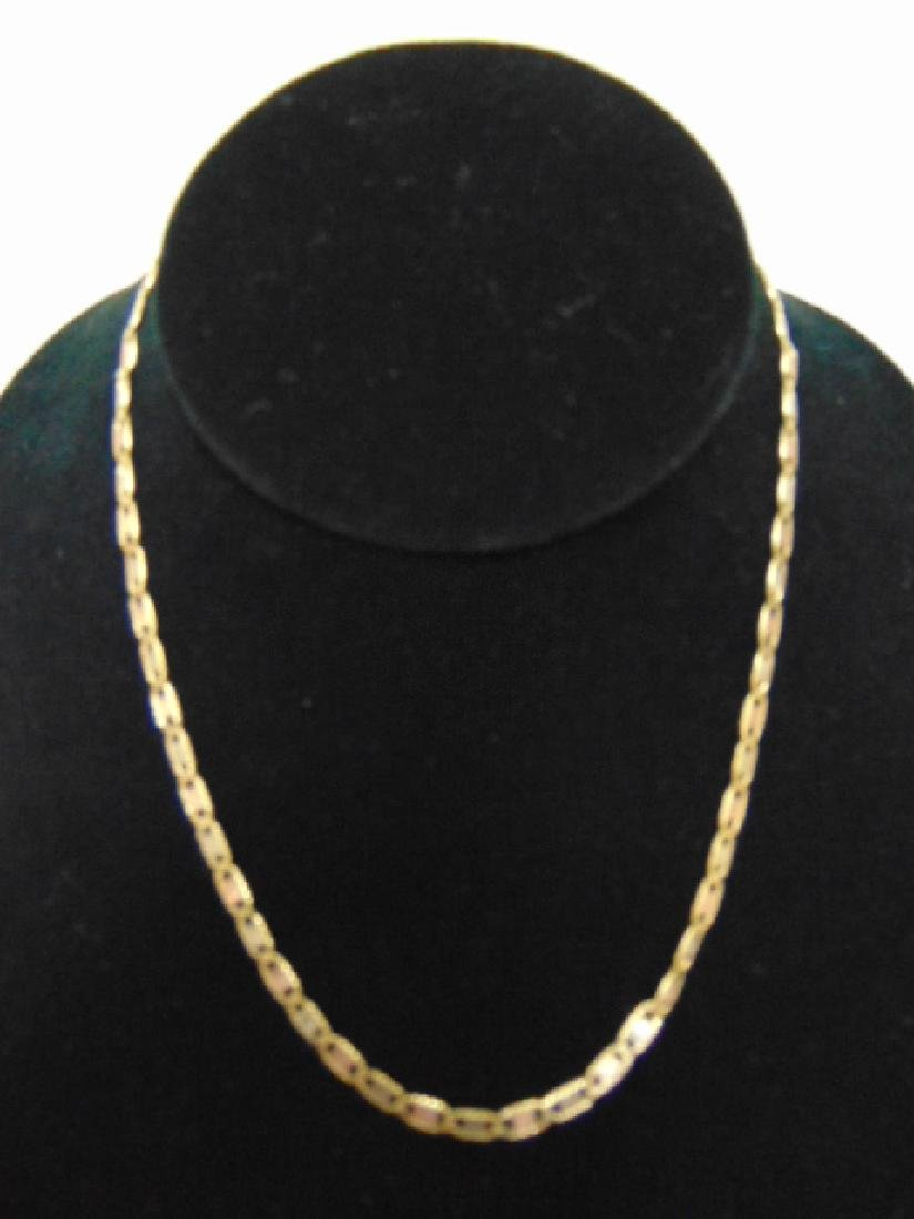 WOMENS VINTAGE ESTATE 14K GOLD & ROSE GOLD NECKLACE