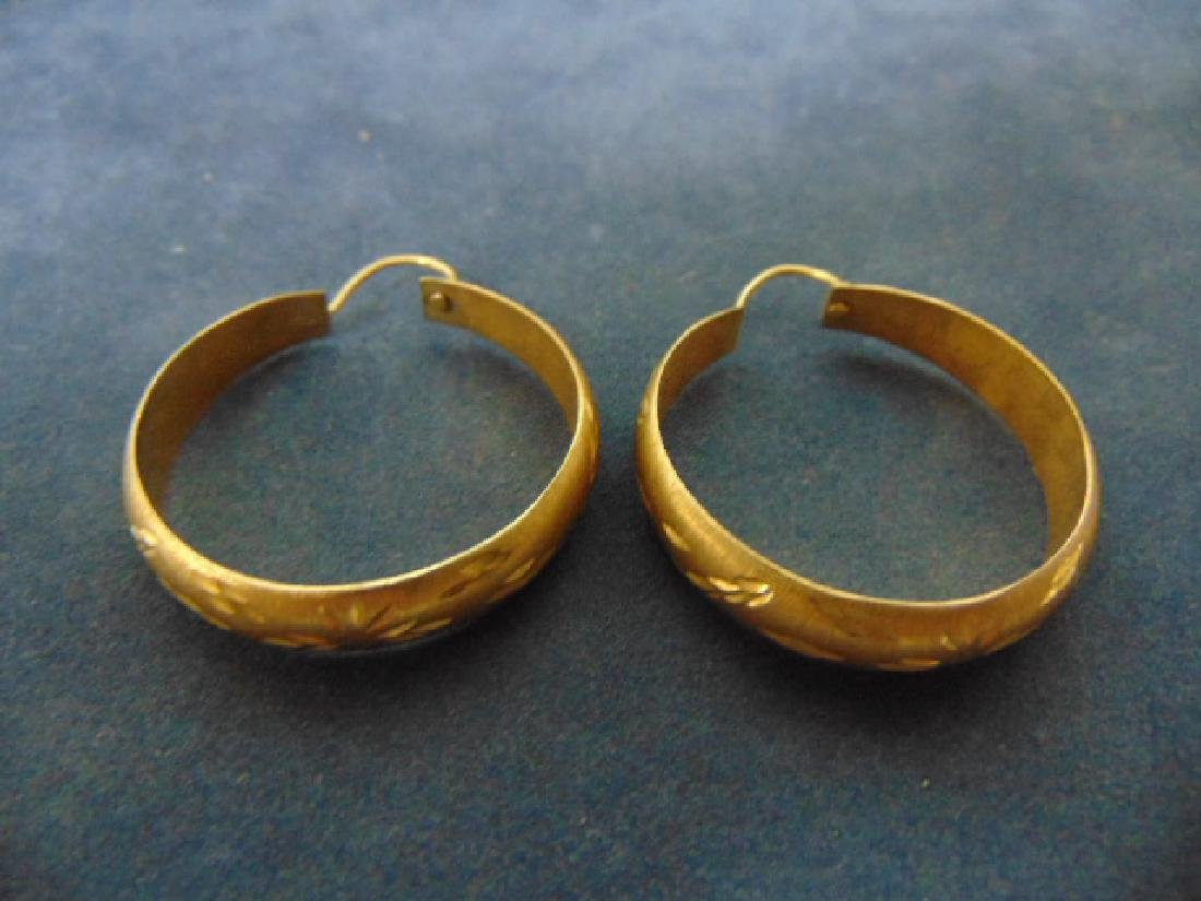 WOMENS VINTAGE ESTATE 14K GOLD EARRINGS
