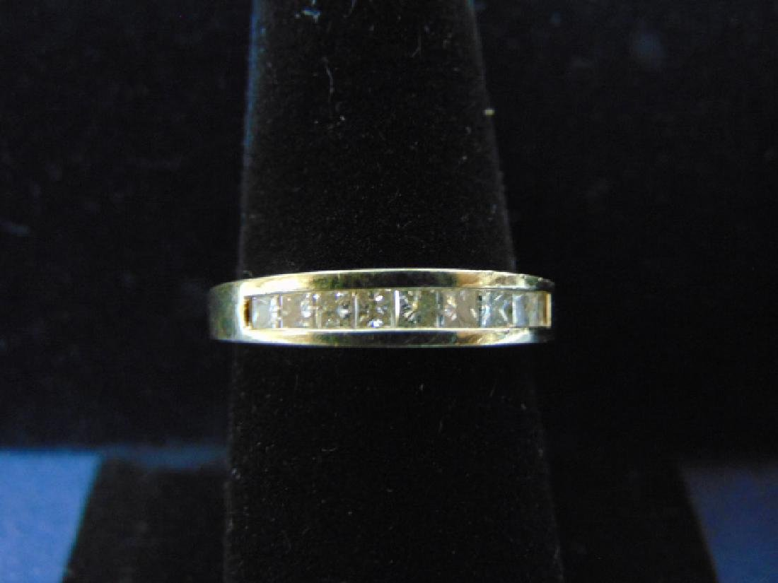 VINTAGE 14K GOLD & DIAMOND WEDDING BAND RING 4.6g