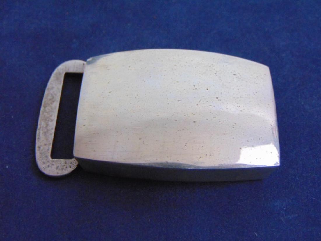 Vintage Estate Sterling Silver Belt Buckle