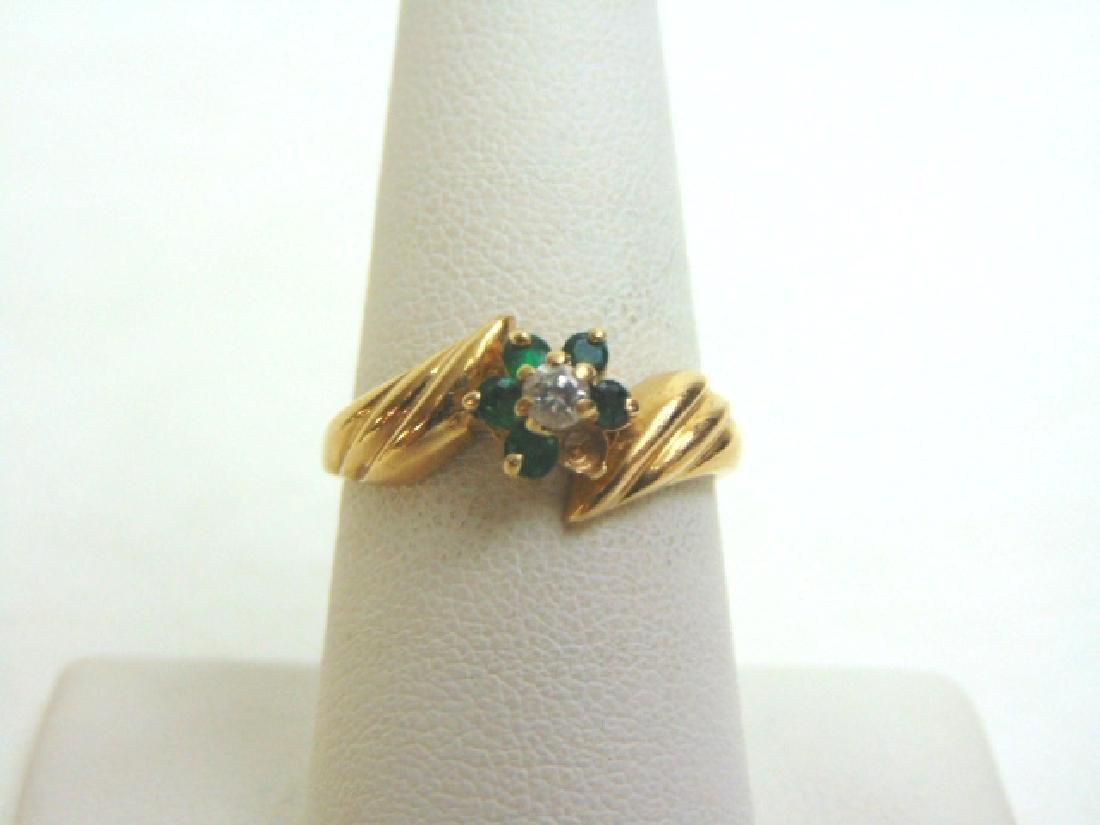 Womens Vintage Estate 14K Gold W/ Emerald Stone ? Ring