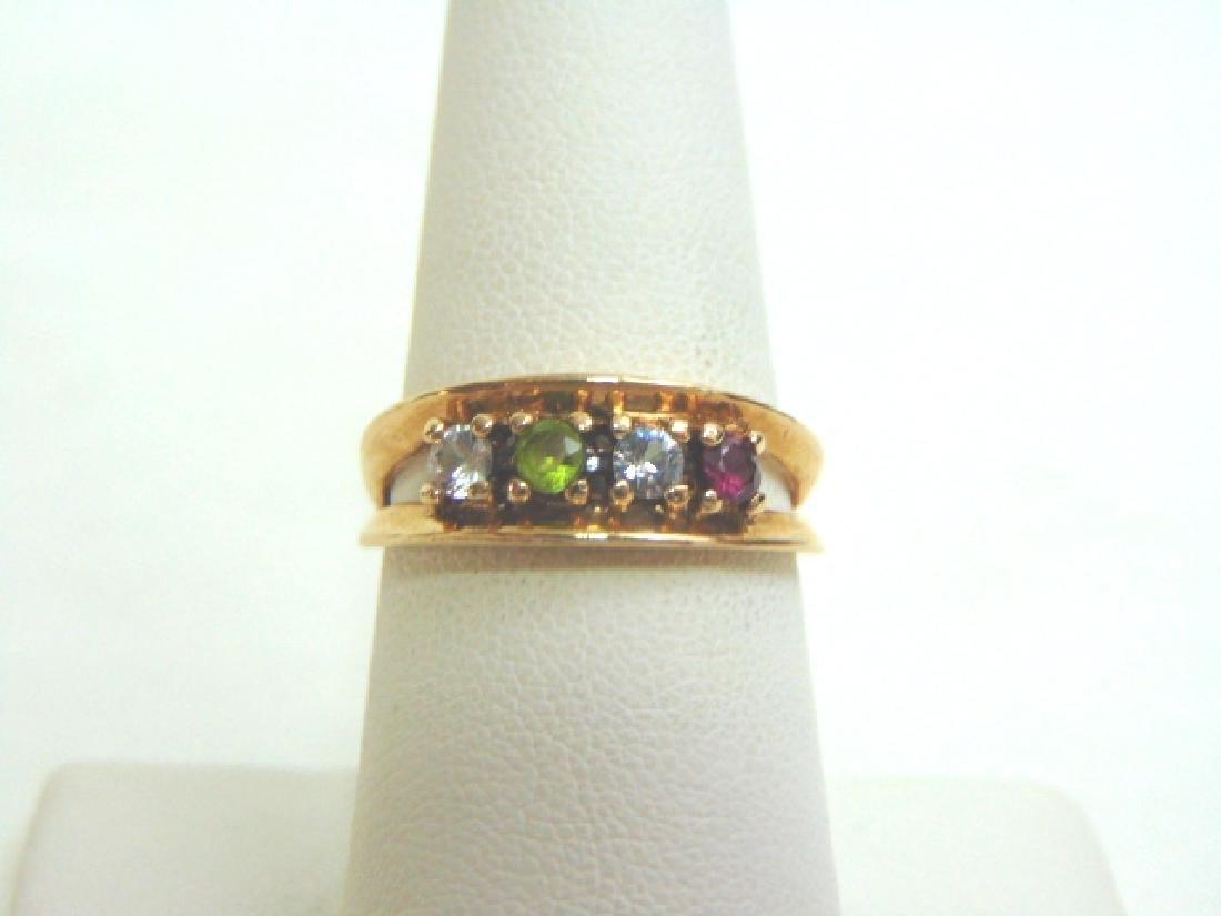 Womens Vintage Estate 10K Gold Diamond & Gemstones