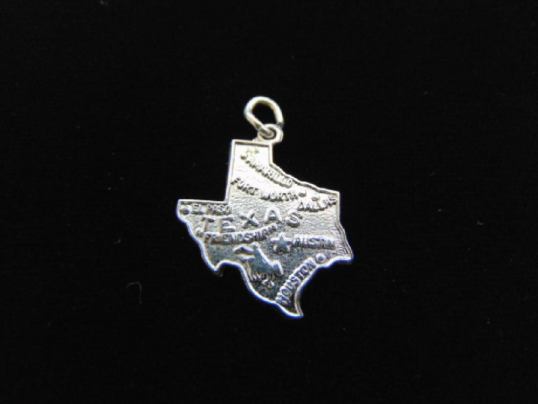 Womens Vintage Estate Sterling Silver Texas Charm 2.2g