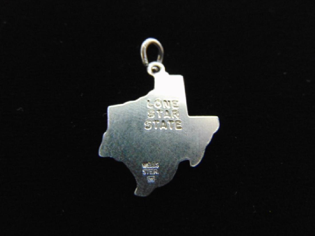 Womens Vintage Estate Sterling Silver Texas Charm 2.2g - 2