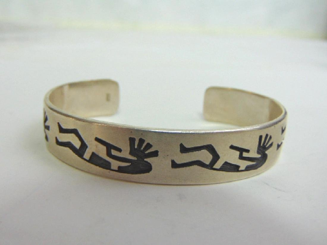 Sterling Silver Zuni Navajo Design Cuff Bracelet