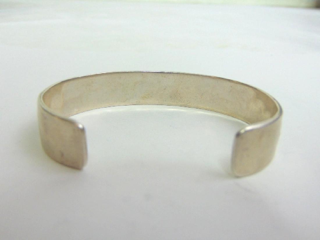 Sterling Silver Zuni Navajo Design Cuff Bracelet - 3