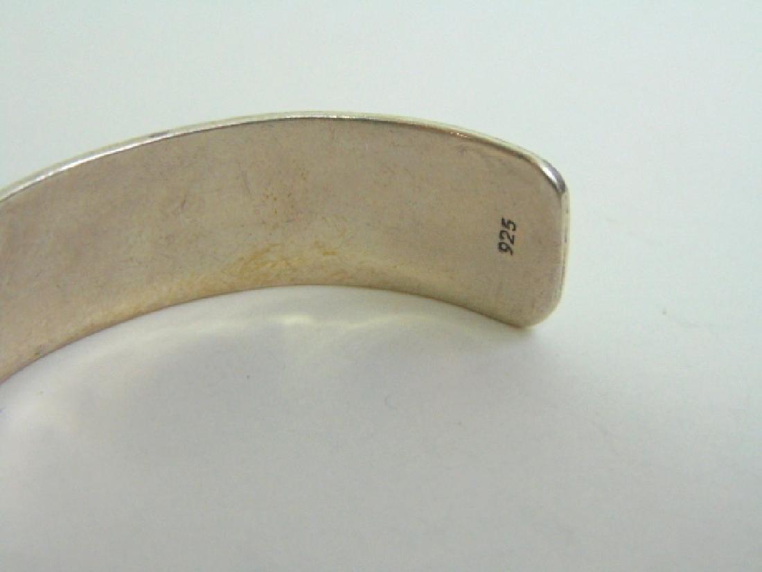 Sterling Silver Zuni Navajo Design Cuff Bracelet - 4