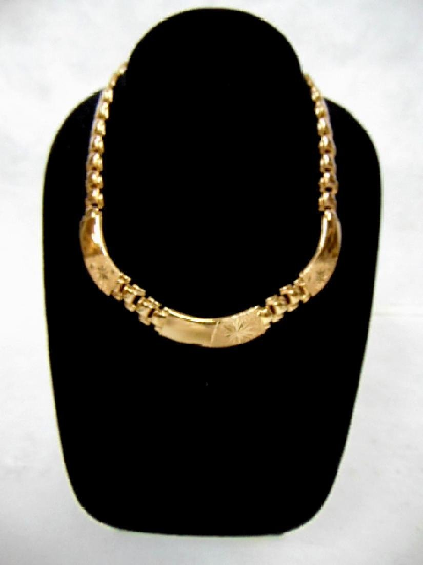 WOMENS VINTAGE ESTATE 18K GOLD NECKLACE 17.7g