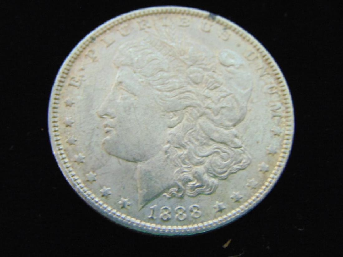 1888 MORGAN SILVER DOLLAR COIN ESTATE FIND