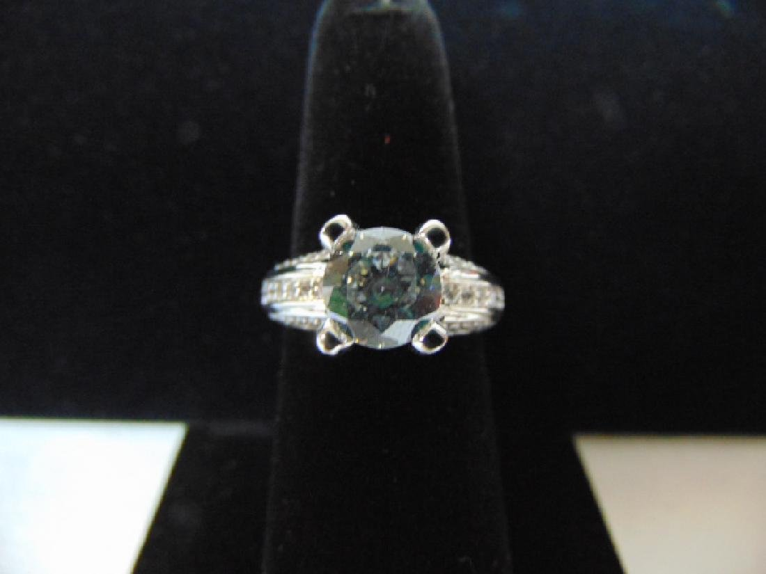 EXQUISITE STERLING SILVER RING W/ CZ STONES 6.0g