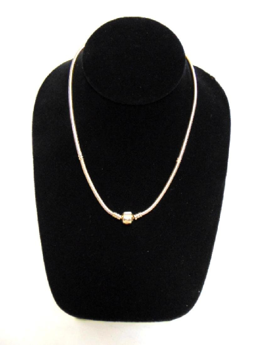 Womens Estate 14k Gold Pandora Charm Necklace