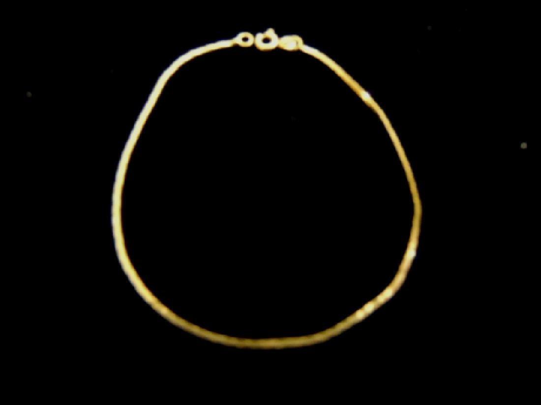 Women's Vintage Estate 14K Gold Herringbone Bracelet