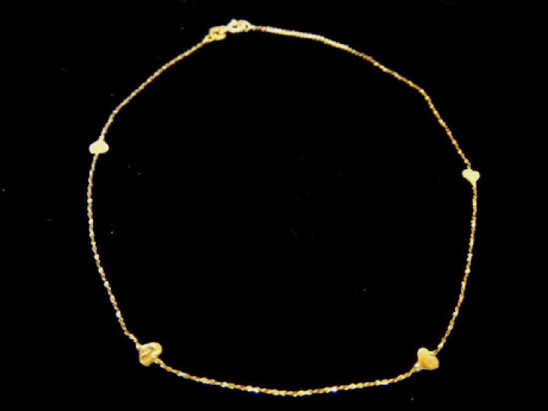 Fine Vintage 14k Gold Heart Bracelet