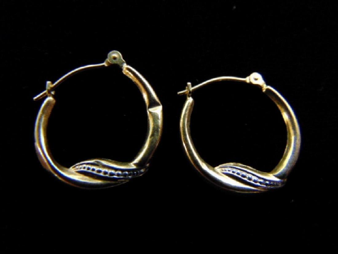 Vintage Estate 14K Yellow Gold Hoop Earrings