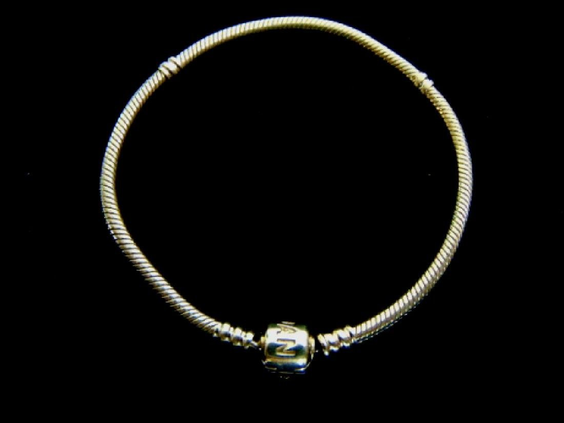 Womens Estate 14k Gold Pandora Charm Bracelet