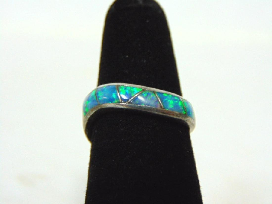 Impressive Vintage Estate Sterling Silver & Opal Ring