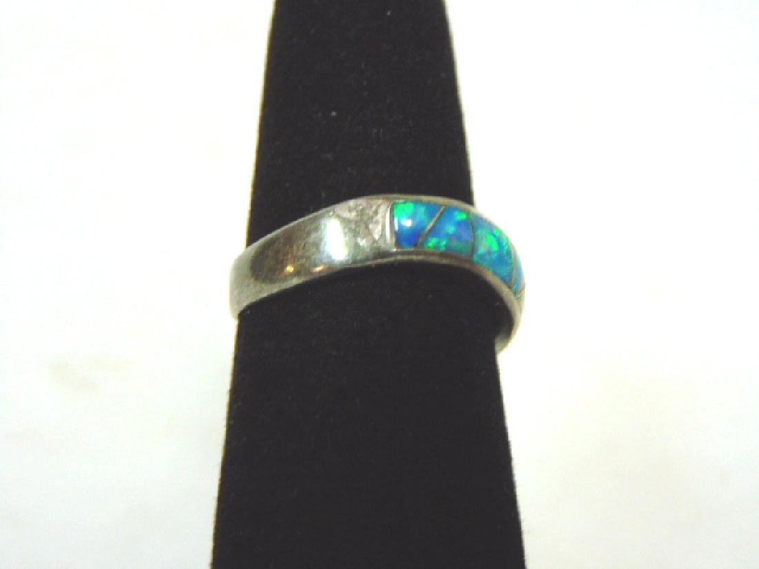 Impressive Vintage Estate Sterling Silver & Opal Ring - 2
