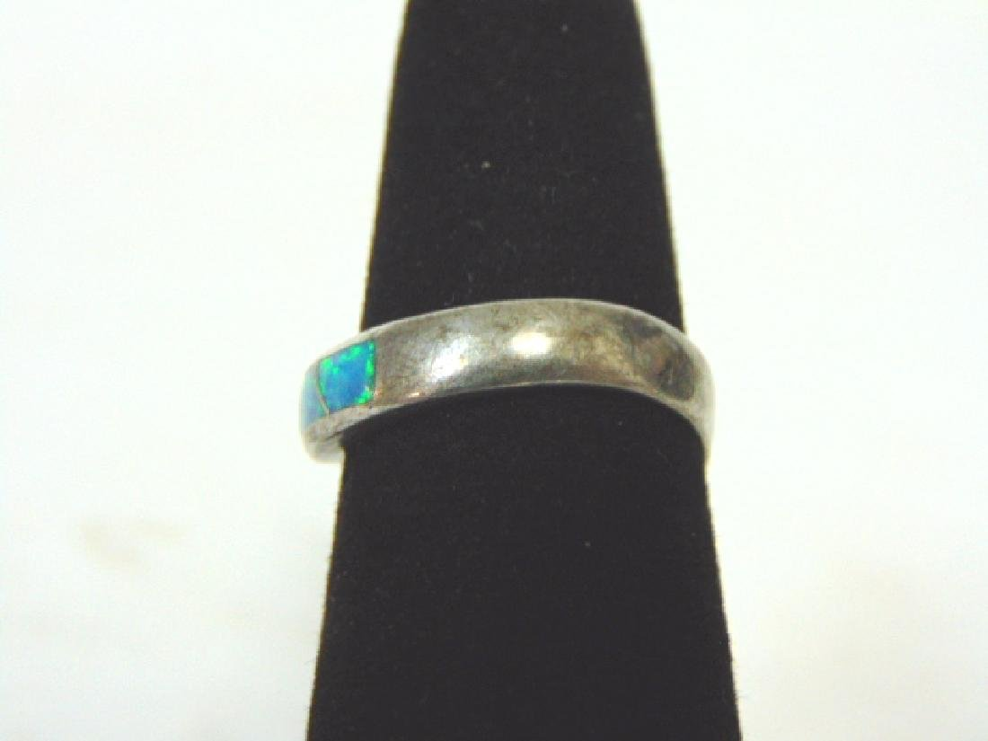 Impressive Vintage Estate Sterling Silver & Opal Ring - 3