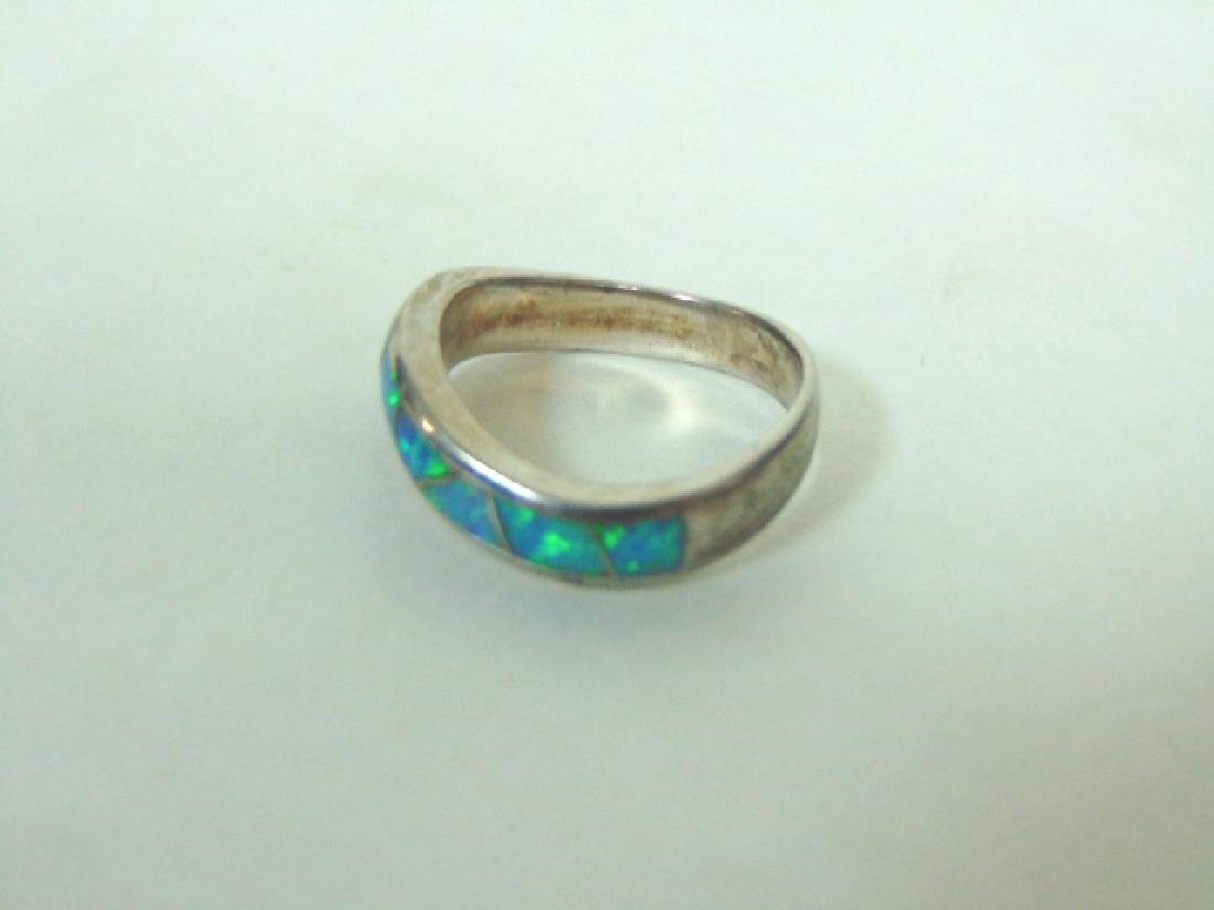 Impressive Vintage Estate Sterling Silver & Opal Ring - 4
