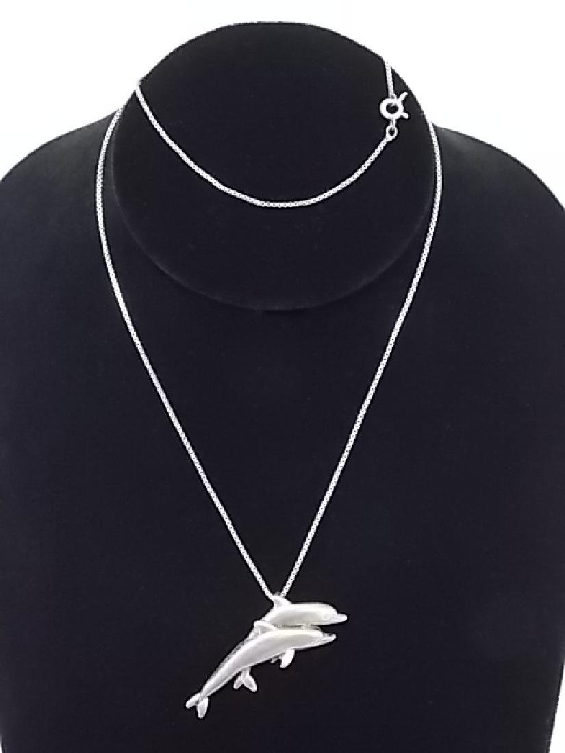 WOMEN'S STERLING SILVER ITALIAN NECKLACE W/ PENDANT