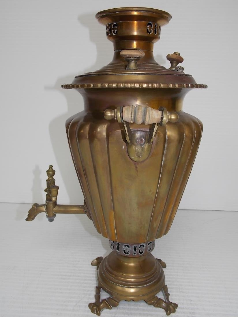 ANTIQUE BRASS RUSSIAN SAMOVAR COFFEE POT - 4