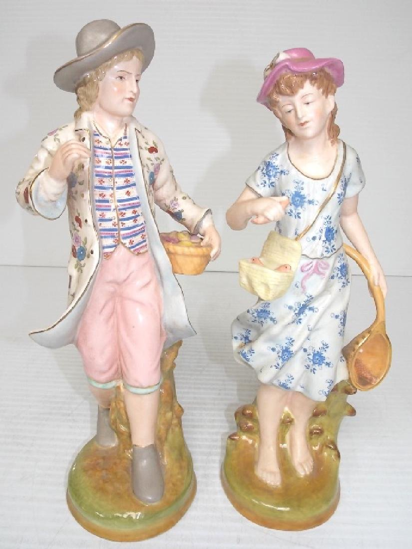 VICTORIAN STYLE HAND PAINTED PORCELAIN FIGURES