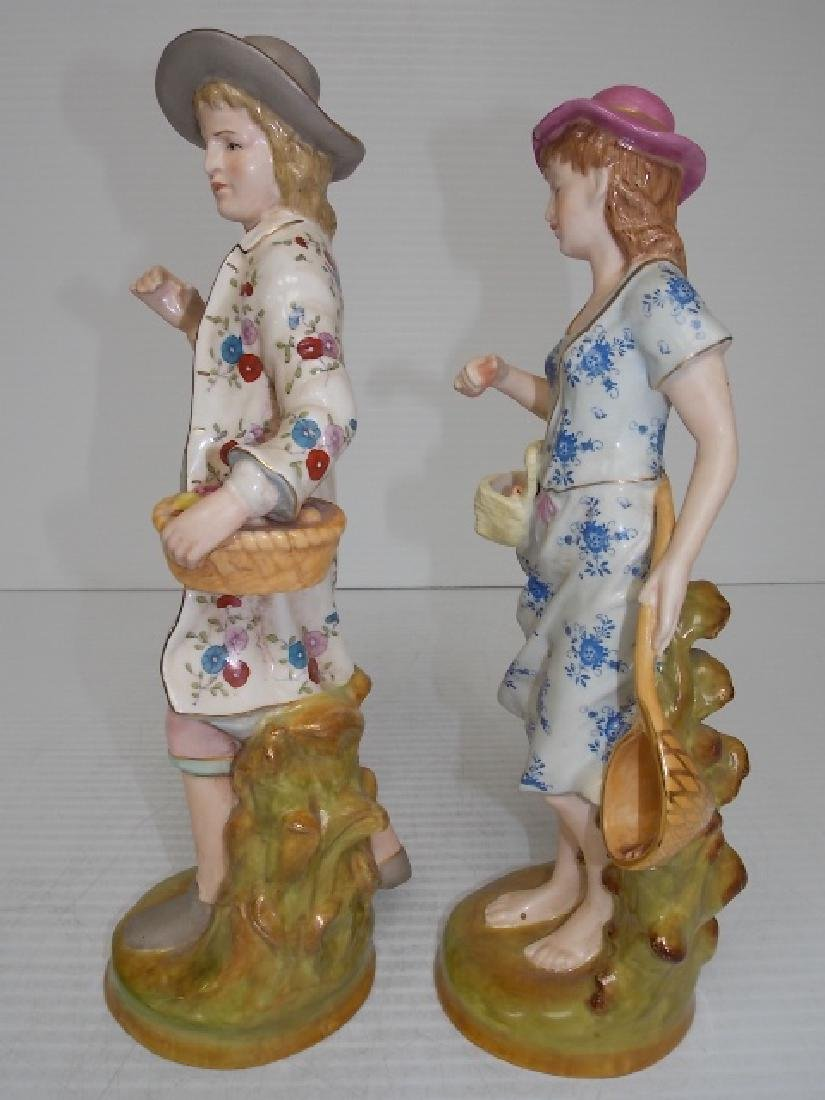 VICTORIAN STYLE HAND PAINTED PORCELAIN FIGURES - 3