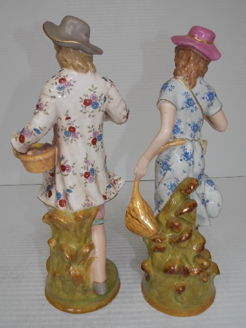 VICTORIAN STYLE HAND PAINTED PORCELAIN FIGURES - 4