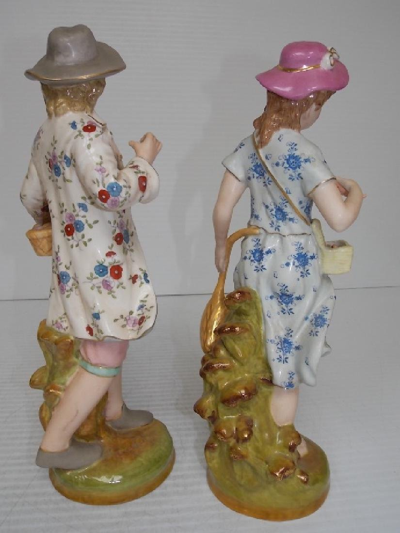 VICTORIAN STYLE HAND PAINTED PORCELAIN FIGURES - 5
