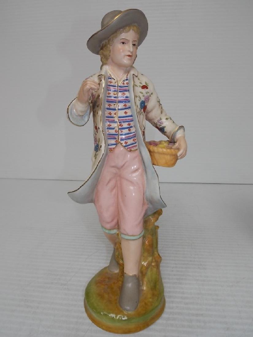 VICTORIAN STYLE HAND PAINTED PORCELAIN FIGURES - 7