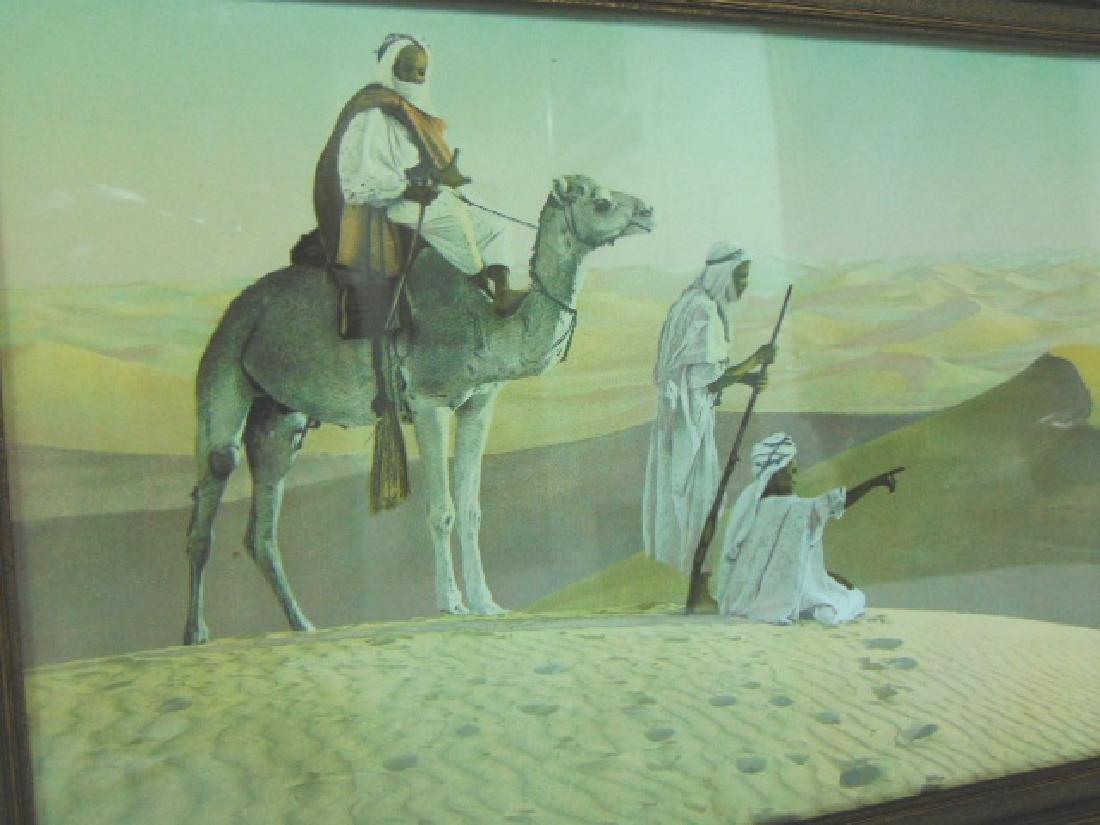 ANTIQUE MIDDLE EASTERN DESERT CAMEL PRINT LITHO - 2