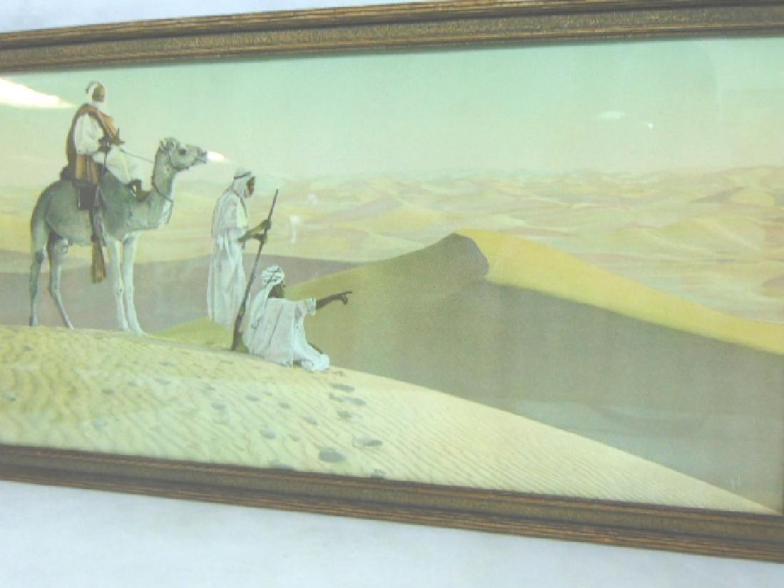 ANTIQUE MIDDLE EASTERN DESERT CAMEL PRINT LITHO - 3