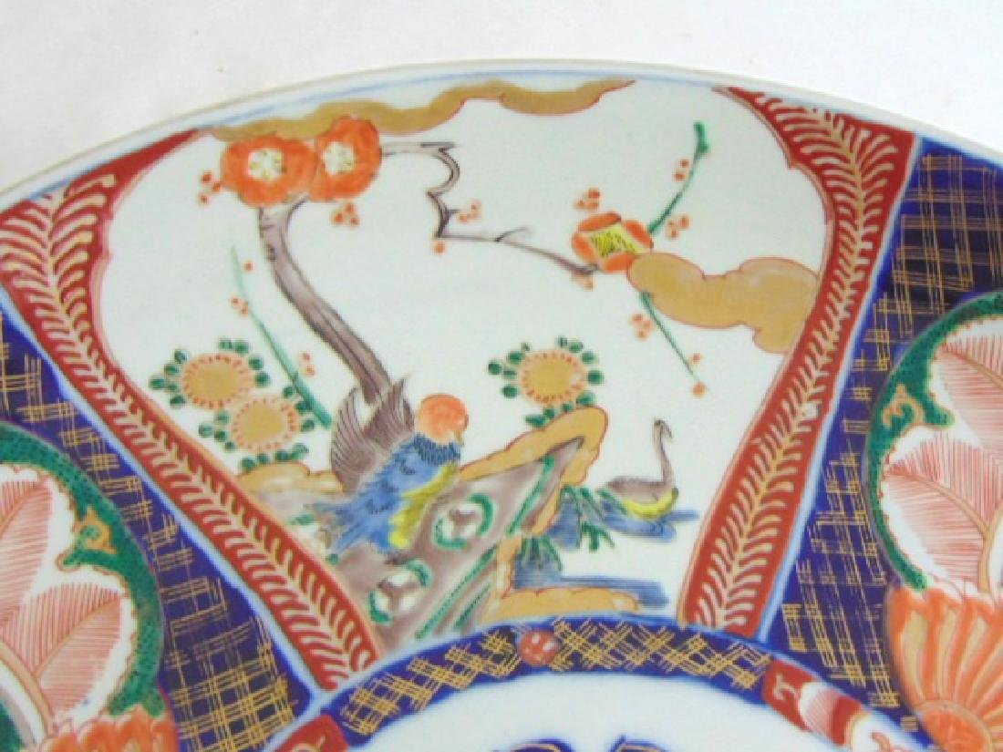 ANTIQUE HAND PAINTED JAPANESE PORCELAIN IMARI CHARGER - 2