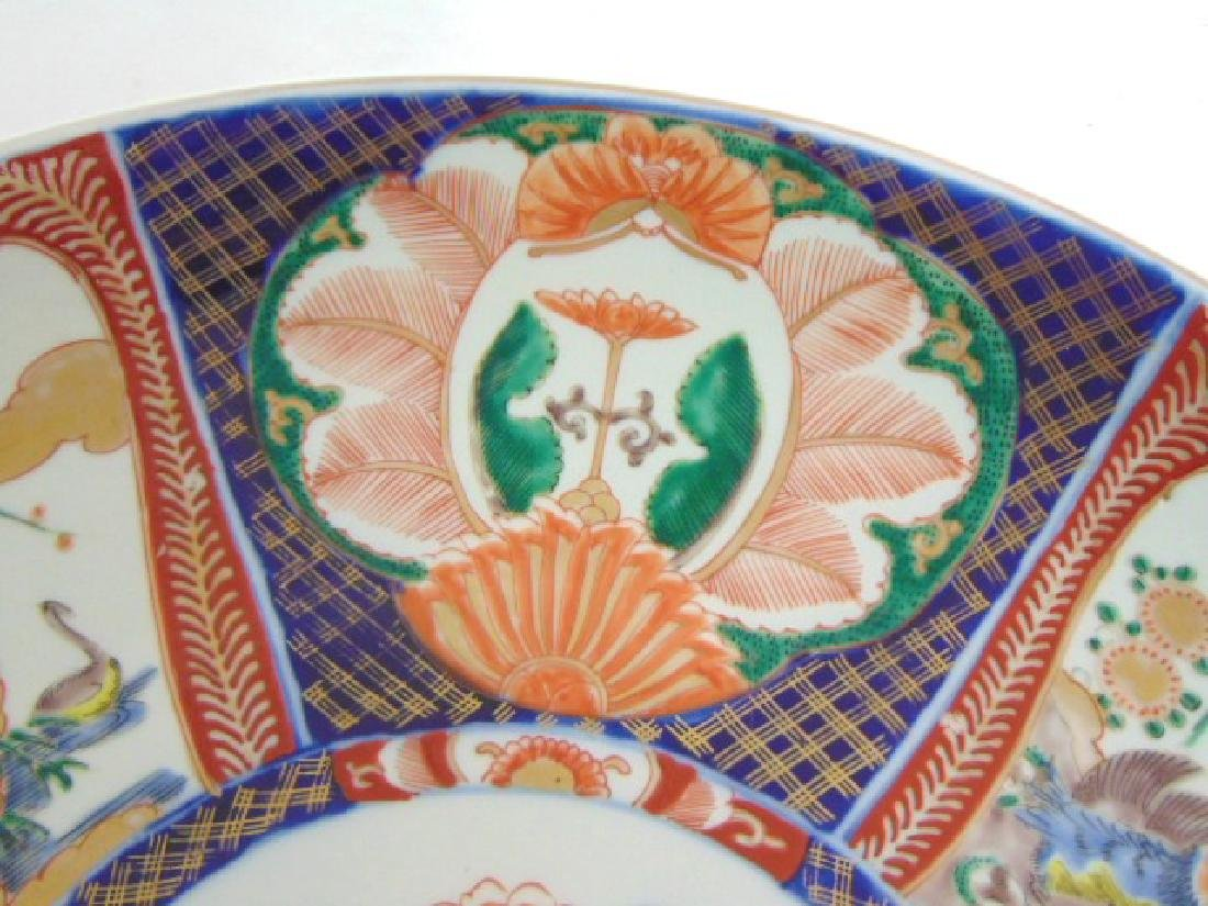 ANTIQUE HAND PAINTED JAPANESE PORCELAIN IMARI CHARGER - 3